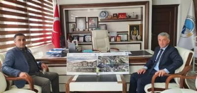 Ardeşen Kaymakamı,Ufuk Özen Alibeyoğlu Belediye başkanımız Hanefi TOK'u makamında ziyaret etti.