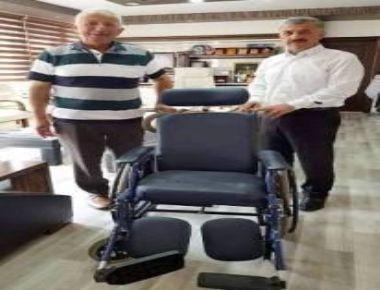 Başkan Hanefi Tok, 103 Yaşındaki Muhammet Sancar'a Tekerlekli Sandalye Hediye Etti.