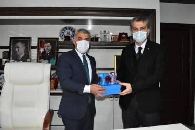 Ak Parti İl Başkanımız Sayın Sezgin Mumcu'yu belediyemizde misafir ettik.